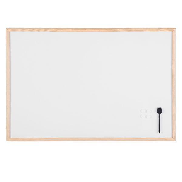 Lavagna bianca magnetica 60x90cm cornice legno starline MM07001010-STL 8025133105066 MM07001010-STL by Starline