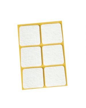 Feltrini adesivi igienissimo mm.30x30 pz.6 bianco IGIENISSIMO 114914 8022915000236 114914