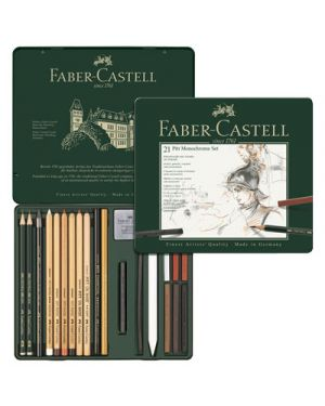 Matita pitt faber grafite in set pz.21 FABER CASTELL 112976 4005401129769 112976