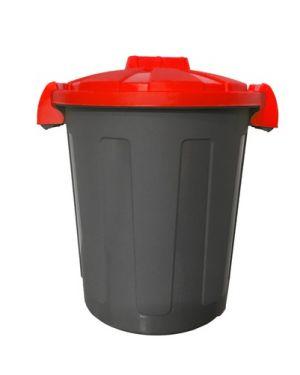 Contenitore portarifiuti dusty 25lt c - coperchio rosso 105/25-ROB 8004331105276 105/25-ROB