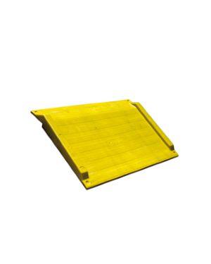 Rampa di accesso 75x125,6x7,5cm giallo BAR0806 87188 A BAR0806