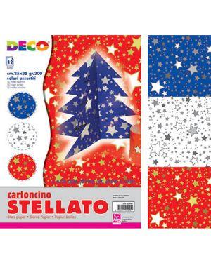 Cartoncini stelle 25x35 cm 12 pz. col. ass CWR 5949 8004957059496 5949