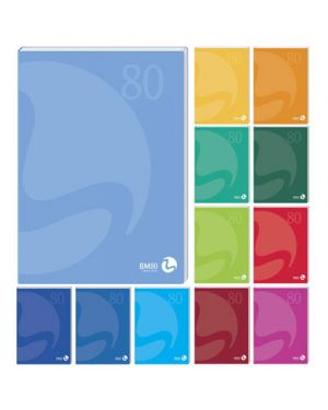 Maxi fg.48+2 gr.80 brossurato color lumbek rig.5 mm BIEMME ARTI GRAFICHE 105331 8008234053313 105331