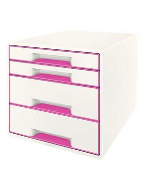 Cassettiera wow cube 4 cassetti bianco - fucsia metallizzato LEITZ 52132023 4002432115341 52132023