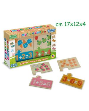 Gioco didattico impara a contare con numeri e figure in legno 20 pz TEOREMA 40470 8017967404705 40470