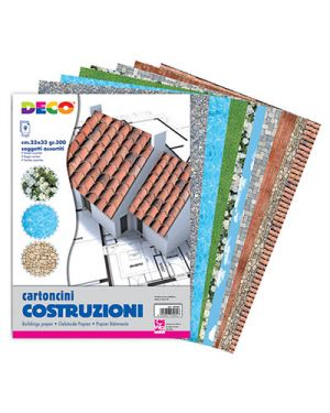 Collage cartoncino 23x33 cm fg. 9 gr.300 col. ass CWR 8989 8004957089899 8989