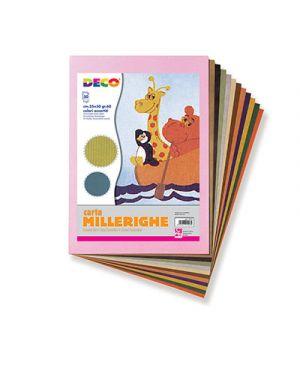 Carta millerighe 35x50 cm fg. 50 col. ass CWR 2212 8004957026436 2212