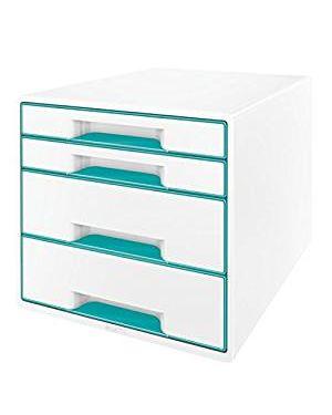 Cassettiera wow cube 4 cassetti bianco - acqua marina metallizzato LEITZ 52132051 4002432115372 52132051