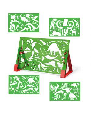 Stencil sagome dinosauri 2613 QUERCETTI 2613 8007905026137 2613