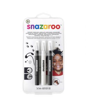 Trucco pennarelli a pennello snazaroo col nero e bianco SNAZAROO 1180156 0766416640086 1180156