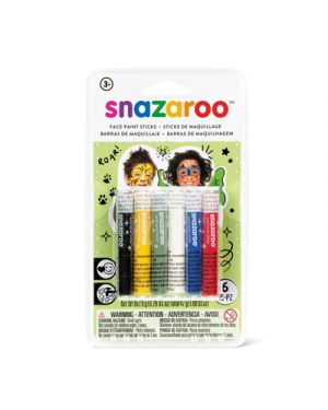 6 stick colori trucco snazaroo misti SNAZAROO 1172011 766416496546 1172011
