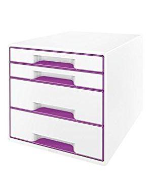Cassettiera wow cube 4 cassetti bianco - viola metallizzato LEITZ 52132062 4002432115389 52132062