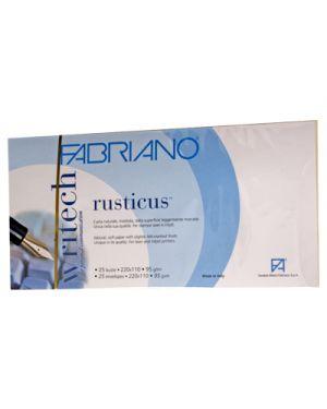 Busta rusticus camoscio 11x22 pz.25 FABRIANO 43112202 8001348155355 43112202