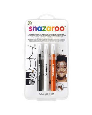 Trucco pennarelli a pennello snazaroo col nero bianco arancio SNAZAROO 1180142 0766416640024 1180142