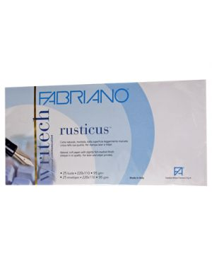 Busta rusticus neve 11x22 pz.25 FABRIANO 42112202 8001348155348 42112202 by Fabriano