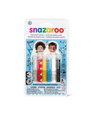 6 stick colori trucco snazaroo  ragazzi SNAZAROO 1172014 766416496560 1172014