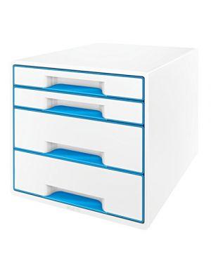 Cassettiera wow cube 4 cassetti bianco - blu metallizzato LEITZ 52132036 4002432115358 52132036