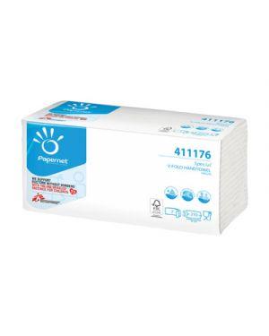 Asciugamani piegati a v pura cellulosa 2 veli  22x22 pz.210 PAPERNET 411176 2000001848449 411176