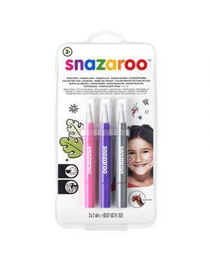 Trucco pennarelli a pennello snazaroo col rosa viola argento SNAZAROO 1180141 0766416640017 1180141