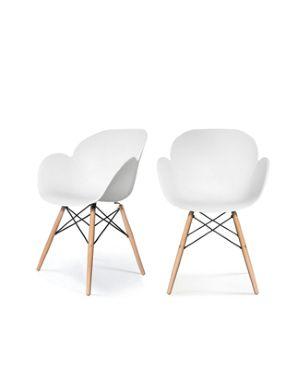 Sedia Kiwood bianca - legno Paperflow Cod.K700503 3660141230161 K700503