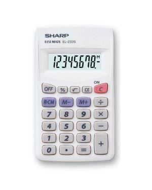 Calcolatrice el 233sb 8 cifre tascabile sharp EL233SB 4974019023601 EL233SB