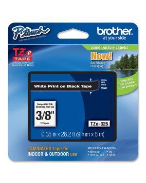 Cass da 9mm bianco su fondo nero Brother TZE325 4977766685665 TZe325