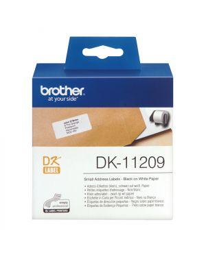 Etichette adesive nero - bianco BROTHER - CONSUMABLES INK DK11209 4977766628136 DK11209_583Z732 by Brother - Consumables