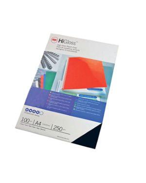 100 copertine higloss 250gr a4 nero cartoncino monolucido CE020010 8019152802006 CE020010