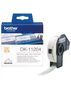 Etichette adesive per ql 500 BROTHER - CONSUMABLES INK DK11204 4977766628167 DK11204_583Z735 by Brother - Consumables