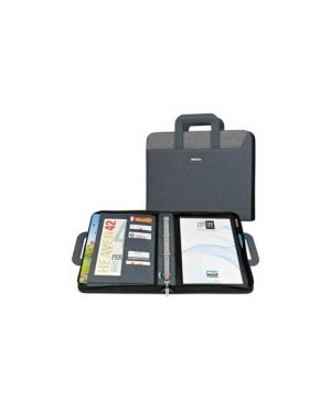 Cartella portablocco c - manici nero - grigio dim. 28.5x36cm city time niji 61496 8002787614960 61496