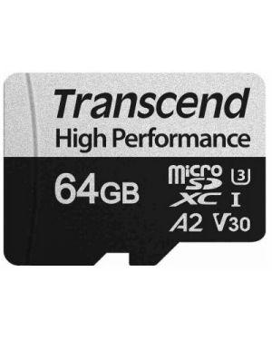 64gb microsd w -  adapter uhs-i u3 a2 Transcend TS64GUSD330S 760557843290 TS64GUSD330S