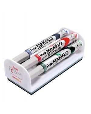 Set 4 marcatori maxiflo mwl5s 4mm assort. + cancellino pentel MWL5S-4N 5902894013409 MWL5S-4N