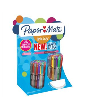 2036161 espositore 60 penne inkjoy gel stick 0,7mm colori ass. papermate 2036161 1.1302698036161E+14 2036161