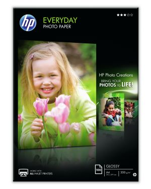 Risma 100 fg carta fotografica hp everyday photo paper lucida a4 200g Q2510A 808736472647 Q2510A_943EGP3