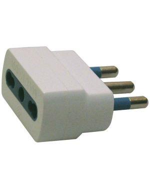Adattatore semplice con spina 2p+t 16a - presa bipasso 10 - 16a 492518885 8006012316001 492518885 by Mkc