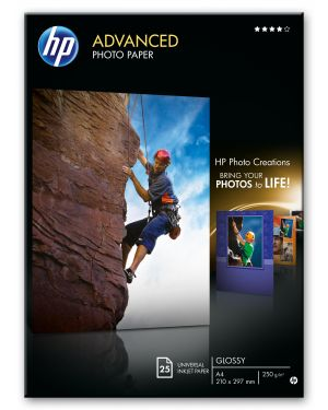 Risma 25 fg carta fotografica hp advanced photo paper lucida a4 Q5456A 882780349551 Q5456A_943MEV5 by Hp - Inkjet Media (au)