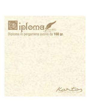 Diplomi in pergamena - stampa offset - 297 x 420mm - 160gr - neutro avorio - kartos - conf. 10pz OD14618200S10 8009162305376 OD14618200S10