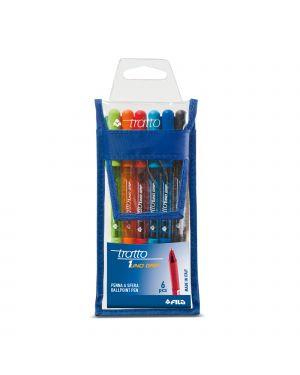 Busta 6 penna sfera tratto 1grip 1,0mm colori assortiti 828800 8000825008498 828800