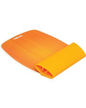 Mousepad con poggiapolsi arancio i-spire fellowes 9362401 43859668045 9362401