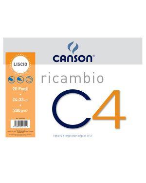 Ricambi per album c4 24x33cm 200gr 20fg liscio canson C400052383 3148950097019 C400052383