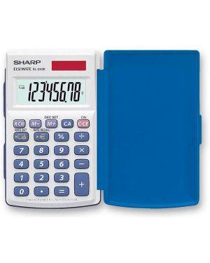 Calcolatrice el 243eb 8 cifre tascabile sharp EL243EB 4974019009810 EL243EB