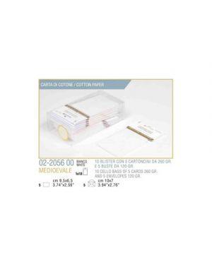 Blister 5 - 5 biglietto busta medioevale cm.7x11 bianco KARTOS 2205600 8009162299927 2205600