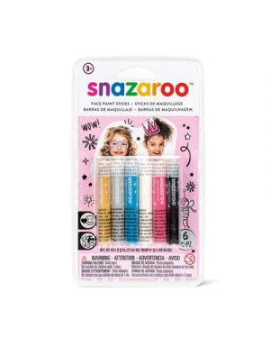 6 stick colori trucco snazaroo ragazze SNAZAROO 1172013 766416496553 1172013