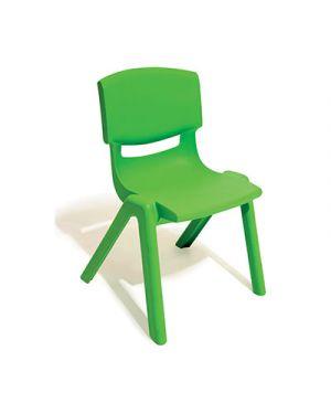Sedia per scuole materne in ppl seduta cm.30 col verde CWR 7834 8004957078343 7834