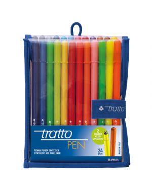 Penna tratto pen busta pz.24 colori assortiti TRATTO 808100 8000825808111 808100