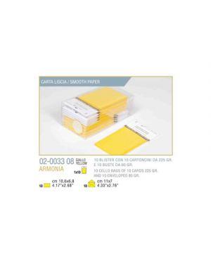 Blister 10 - 10 biglietto busta armonia cm.7x11 giallo KARTOS 2003308 8009162304546 2003308