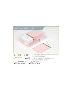 Blister 10 - 10 biglietto busta armonia cm.7x11 rosa KARTOS 2003302 8009162304485 2003302