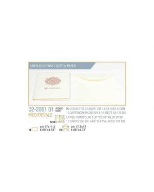 Busta 10 - 10 biglietto busta medioevale cm.13,5x19 avorio KARTOS 2206101 8009162213206 2206101