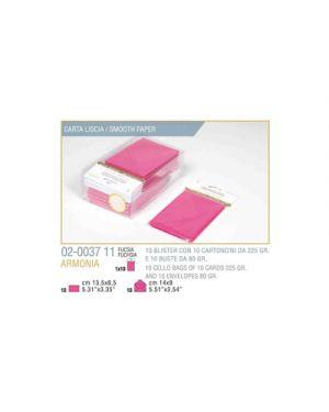 Blister 10 - 10 biglietto busta armonia cm.9x14 fuxia KARTOS 2003711 8009162304850 2003711
