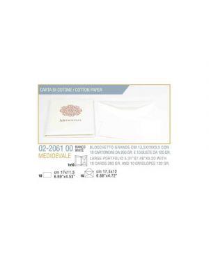 Busta 10 - 10 biglietto busta medioevale cm.13,5x19 bianco KARTOS 2206100 8009162213190 2206100